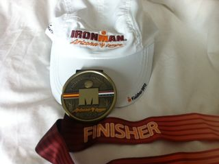Finisher medal and hat